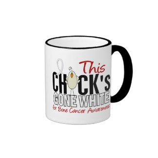 BONE CANCER Chick Gone White Ringer Coffee Mug