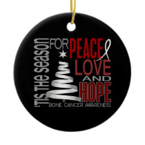 Bone Cancer Christmas 1 Ornaments