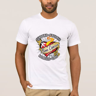 Bone Cancer Classic Heart T-Shirt