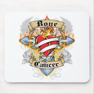 Bone Cancer Cross & Heart Mouse Pad