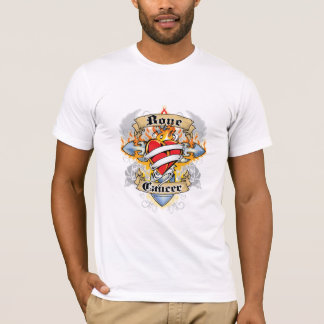 Bone Cancer Cross & Heart T-Shirt