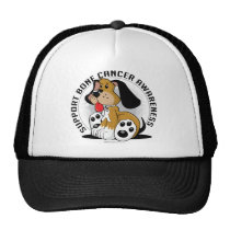 Bone Cancer Dog Trucker Hat
