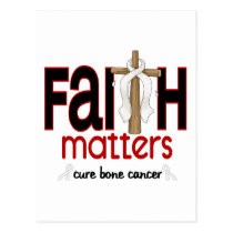 Bone Cancer Faith Matters Cross 1 Postcard