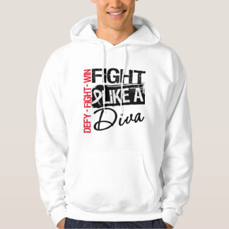 Bone Cancer - Fight Like a Diva Hoodie