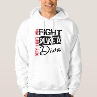 Bone Cancer - Fight Like a Diva Sweatshirt