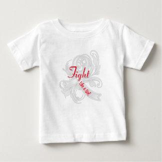 Bone Cancer Fight Like a Girl Flourish Infant T-shirt