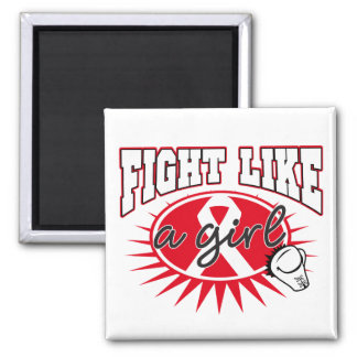 Bone Cancer Fight Like A Girl Sporty Callout Refrigerator Magnets
