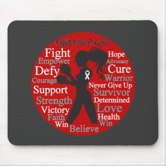 Bone Cancer Fight Like A Girl Warrior Collage Mouse Pad