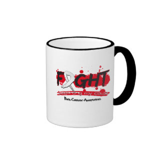 Bone Cancer FIGHT Supporting My Cause Ringer Coffee Mug