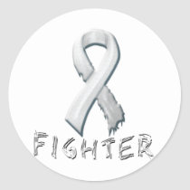 Bone Cancer Fighter Classic Round Sticker