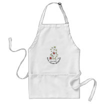 Bone Cancer FLOWER RIBBON 1 Adult Apron