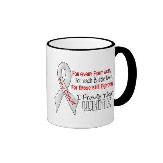 Bone Cancer For Every…..I Proudly Wear White 1 Ringer Coffee Mug