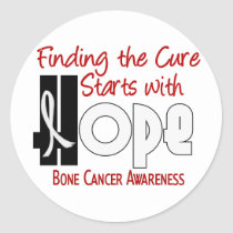 Bone Cancer HOPE 4 Classic Round Sticker