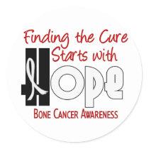 Bone Cancer HOPE 4 Classic Round Sticker