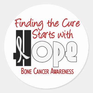 Bone Cancer HOPE 4 Stickers