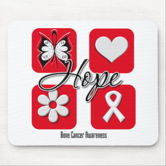 Bone Cancer Hope Love Inspire Awareness Mouse Mat