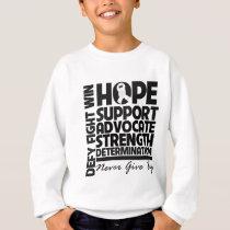 Bone Cancer Hope Support Advocate Sweatshirt