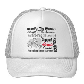 Bone Cancer Hope Tribute Collage Trucker Hat