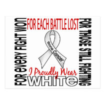 Bone Cancer I Proudly Wear White 2 Postcard