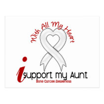 Bone Cancer I Support My Aunt Postcard