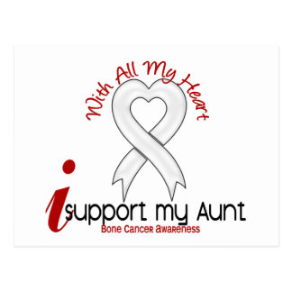 Bone Cancer I Support My Aunt Postcard