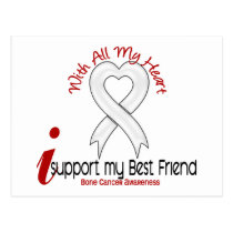 Bone Cancer I Support My Best Friend Postcard