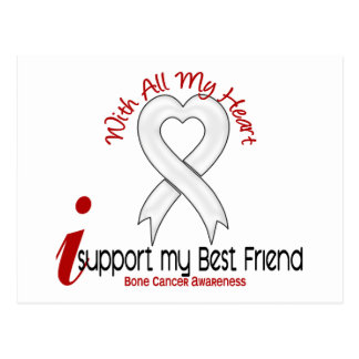 Bone Cancer I Support My Best Friend Postcard