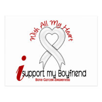 Bone Cancer I Support My Boyfriend Postcard