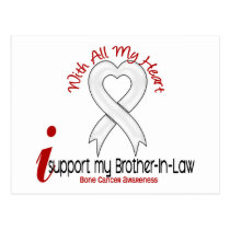 Bone Cancer I Support My Brother-In-Law Postcard