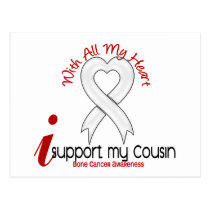 Bone Cancer I Support My Cousin Postcard