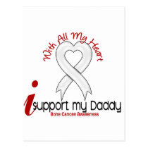 Bone Cancer I Support My Daddy Postcard