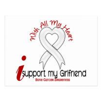 Bone Cancer I Support My Girlfriend Postcard