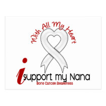 Bone Cancer I Support My Nana Postcard