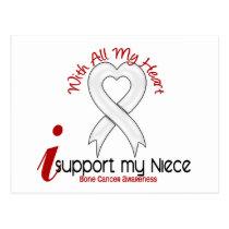 Bone Cancer I Support My Niece Postcard