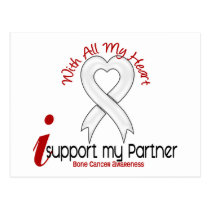 Bone Cancer I Support My Partner Postcard