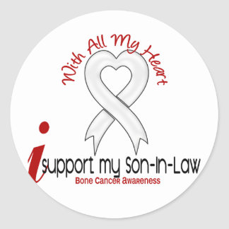 Bone Cancer I Support My Son-In-Law Classic Round Sticker