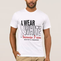 Bone Cancer I Wear White Because I Care 10 T-Shirt