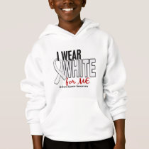 Bone Cancer I Wear White For ME 10 Hoodie