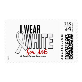 Bone Cancer I Wear White For ME 10 Postage Stamps