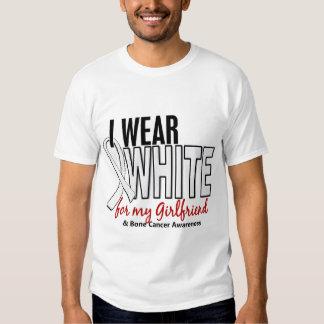 Bone Cancer I Wear White For My Girlfriend 10 Shirt