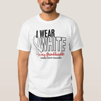 Bone Cancer I Wear White For My Granddaughter 10 Shirt