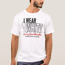 Bone Cancer I Wear White For My Granddaughter 10 T-Shirt