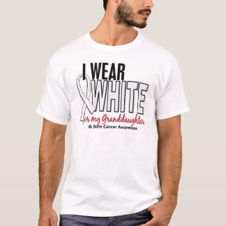 Bone Cancer I Wear White For My Granddaughter 10 T-Shirt
