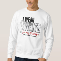 Bone Cancer I Wear White For My Grandpa 10 Sweatshirt