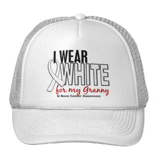 Bone Cancer I Wear White For My Granny 10 Mesh Hat