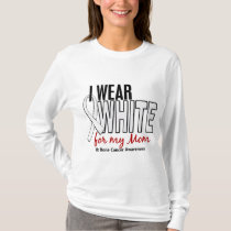 Bone Cancer I Wear White For My Mom 10 T-Shirt