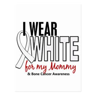 Bone Cancer I Wear White For My Mommy 10 Postcard