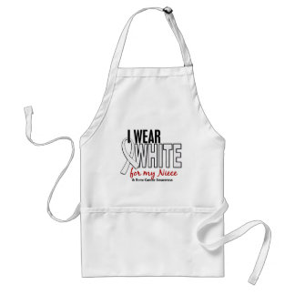 Bone Cancer I Wear White For My Niece 10 Aprons