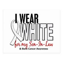 Bone Cancer I Wear White For My Son-In-Law 10 Postcard