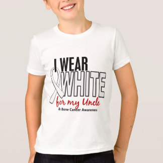 Bone Cancer I Wear White For My Uncle 10 T-Shirt